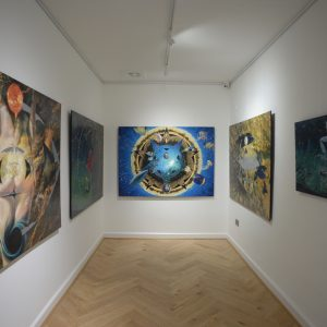 Jon Minshull selection of work hanging in gallery copy
