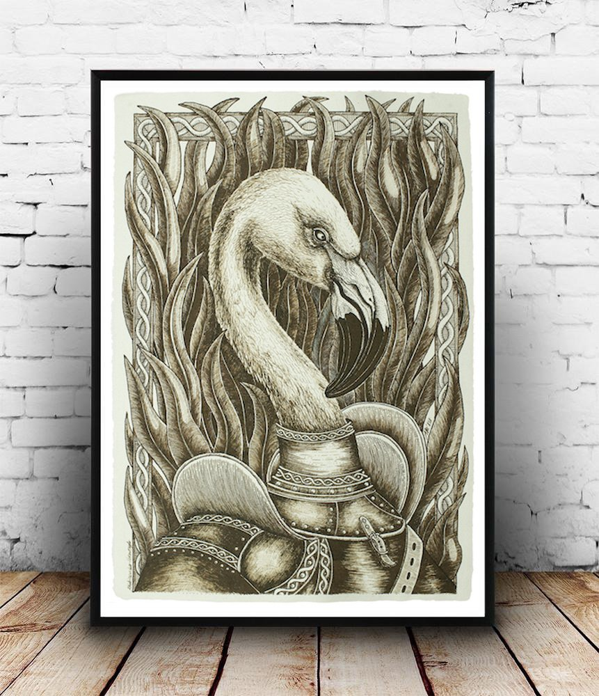 Sir Flamingo - Giclée Print