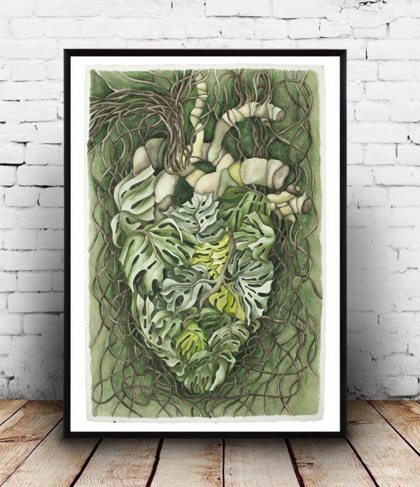 Monstera Heart - Giclée Print