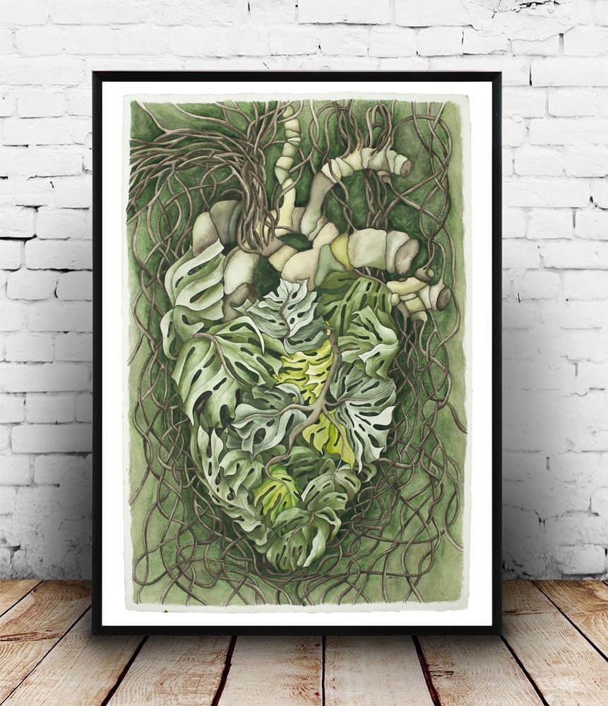 Monstera Heart - Giclée Print